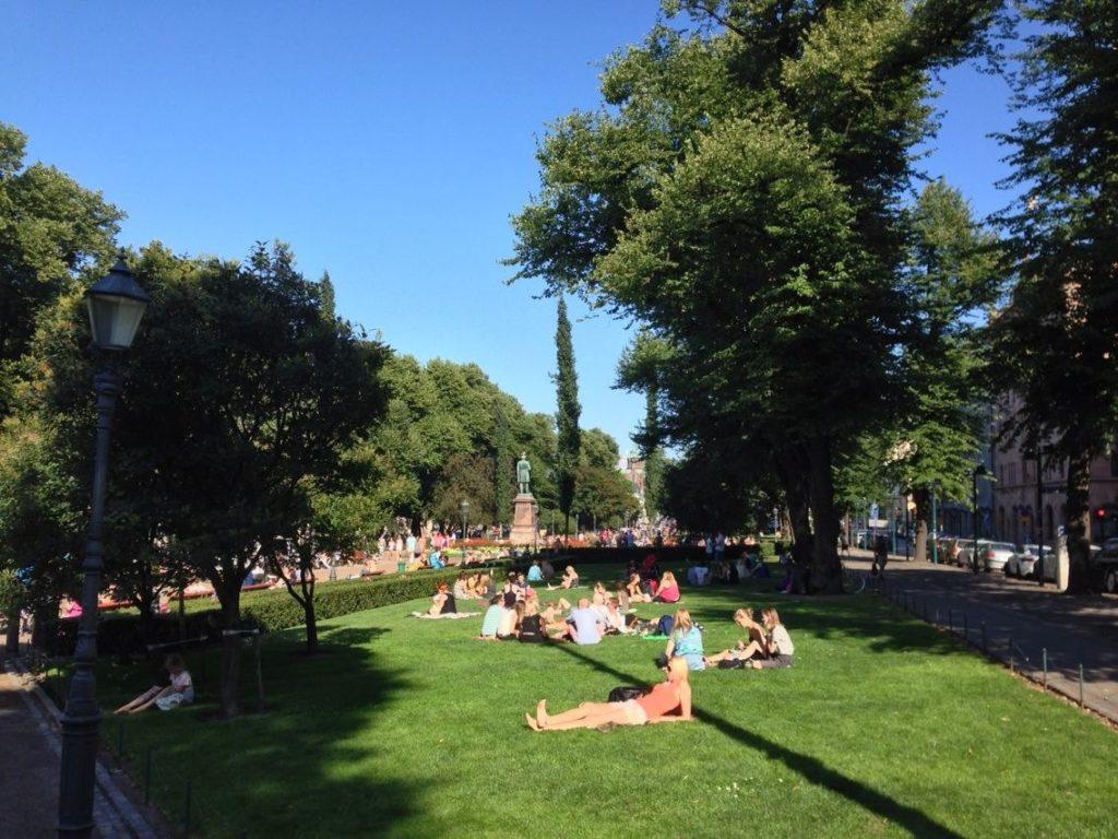 Парк в центре Хельсинки