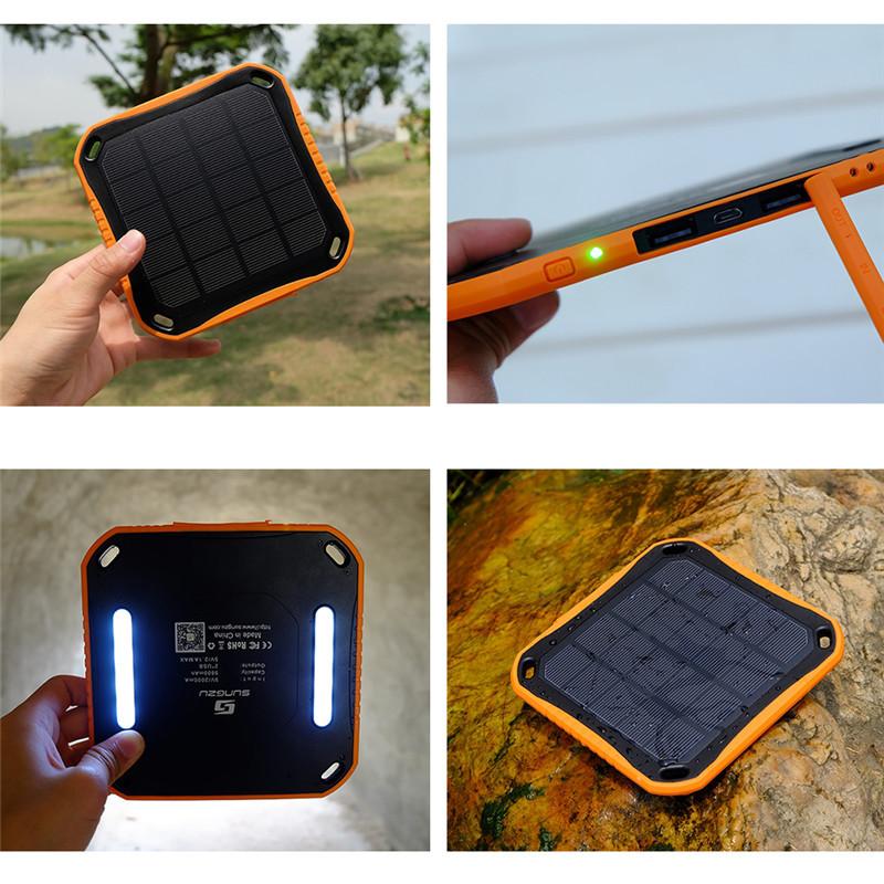 PowerBank со встроенной солнечной батареей