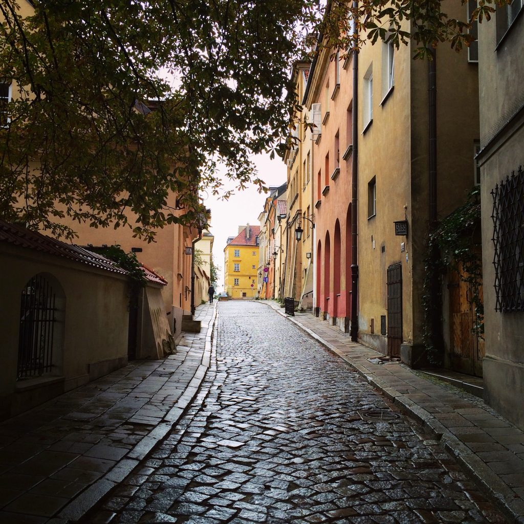Улицы в центре Варшавы