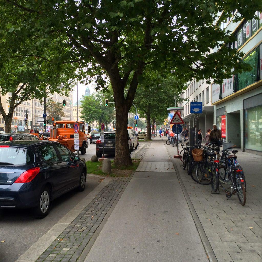 Велодорожка в Мюнхене